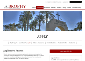 apply.brophyprep.org