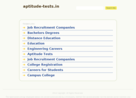 aptitude-tests.in