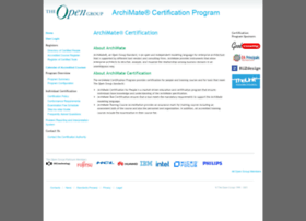 archimate-cert.opengroup.org