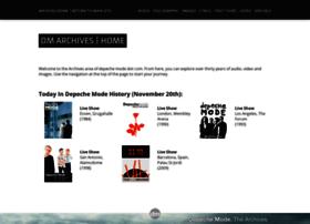 archives.depechemode.com