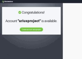 ariusproject.clickwebinar.com