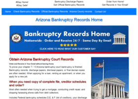 arizona.bankruptcyrecordshome.com