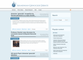 armeniangenocidedebate.com