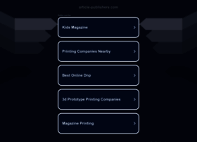 article-publishers.com