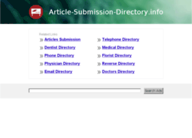 article-submission-directory.info