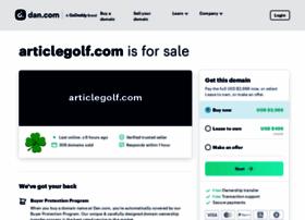 articlegolf.com