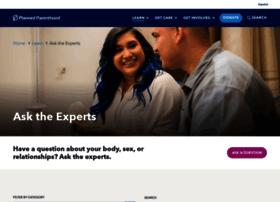 asktheexperts.plannedparenthood.org