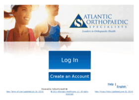 atlanticortho.followmyhealth.com