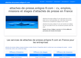 attaches-de-presse.enligne-fr.com