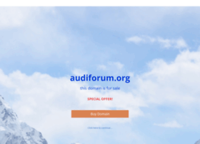 audiforum.org
