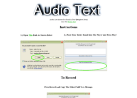audiotext.sourceforge.net