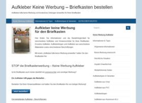 aufkleber-keine-werbung.de