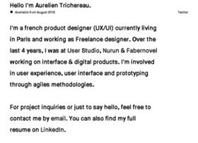 aurelientrichereau.com