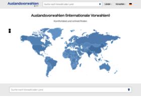 auslandsvorwahlen.net