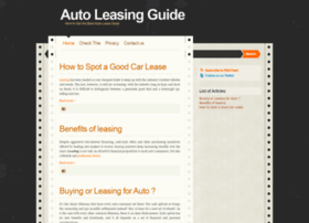 auto-leasing-guide.blogspot.com