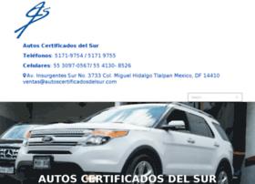 autoscertificadosdelsur.com
