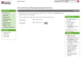 autospam.reading.ac.uk