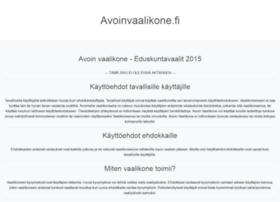 avoinvaalikone.fi