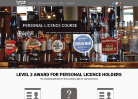 awardforpersonallicenceholders.co.uk