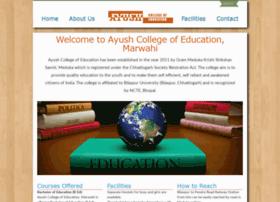 ayushcollegeofeducation.com