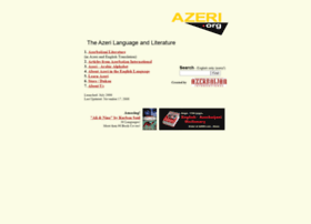azeri org azeri org all about the azeri language azeri literature
