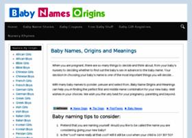 babynamesorigins.com