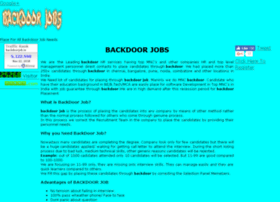 backdoorjob.in