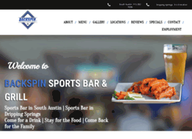 backspinsportsbar.com