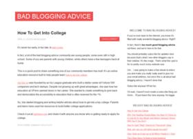 badbloggingadvice.com