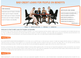 badcreditloansforpeopleonbenefits.co.uk