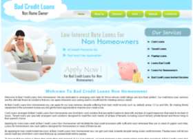 badcreditloansnonhomeowner.co.uk