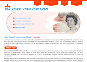 badcreditunsecuredloan.me.uk