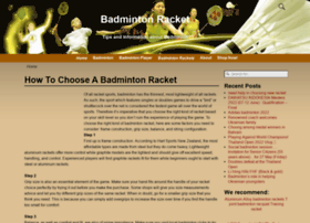 badmintonracket.biz