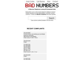 badnumbers.info