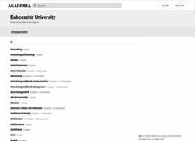 Bahcesehir.academia.edu