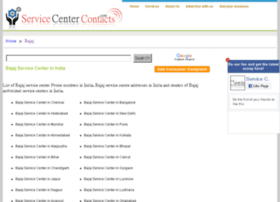 bajaj.servicecentercontacts.com