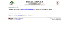 bangaloreone.gov.in