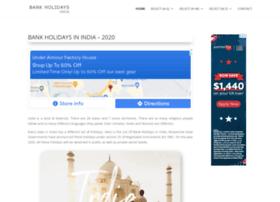 bankholidaysindia.com