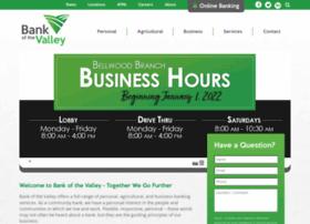 bankofthevalley.com