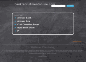 bankrecruitmentonline.com