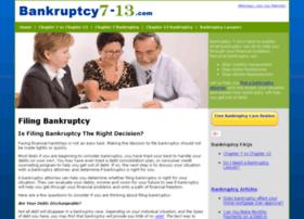 bankruptcy7-13.com