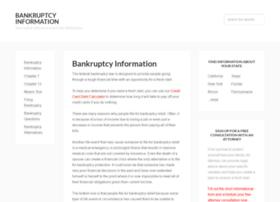 bankruptcyinformation.com