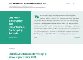 bankruptcyrecordsfree.com