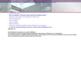 bannerweb.zu.ac.ae