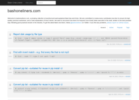 bashoneliners.com