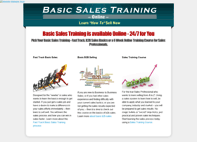 basicsalestrainingonline.com