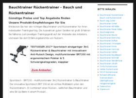 bauchtrainer-rueckentrainer.de
