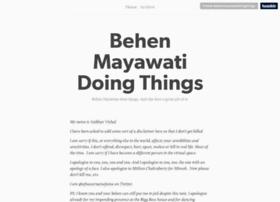 behenmayawatidoingthings.tumblr.com
