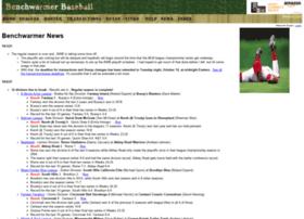 benchwarmerbaseball.net
