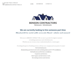 bensoncontractors.co.uk
